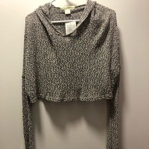 Grey light hoody sweater